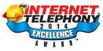 IP<em>edge</em> Wins 2014 INTERNET TELEPHONY Excellence Award