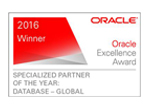 2016 Oracle Excellence Award - Database